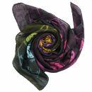 Cotton Scarf - Pirate Skulls black - tie dye - squared...