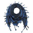 Palituch - blau-ultramarin - schwarz - Kufiya PLO Tuch