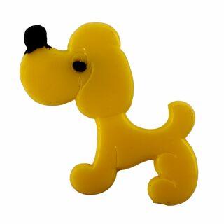 Spilla - grosso cane - giallo - fermaglio DDR