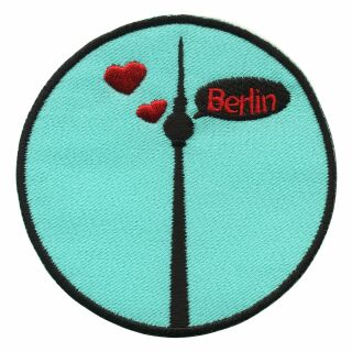 Patch - TV Tower Berlin - black-light grey