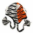 Wollmütze - 2 Tiger - Kinder Tiermütze