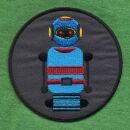 Patch - Robot - blu e grigio 8 cm - toppa