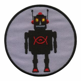 Patch - Robot - black and light grey