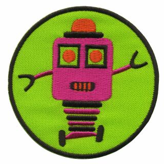 Patch - Robot - pink and green