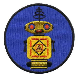 Parche - Robot - amarillo y azul