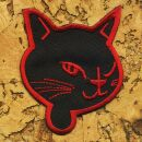 Patch - Cats Head - black-red