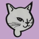 Patch - Cats Head - white-black