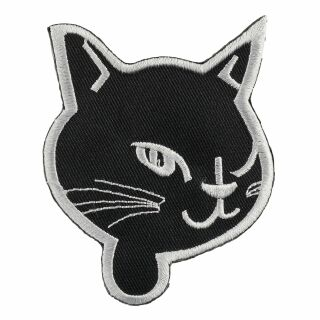 Patch - Cats Head - black-white
