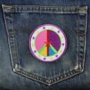 Patch - Peace sign with stars - multicolor