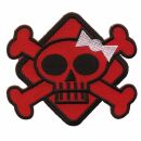 Aufnäher - Totenkopf Poison - rot - Patch