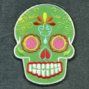 Patch - Skull Mexico - green