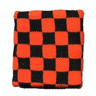 Banda de sudor - brazo - naranja-negro cuadriculado