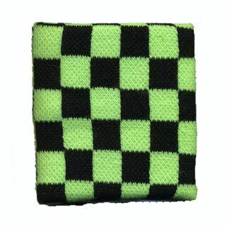 Schweißband kariert - schwarz-grün - Karomuster