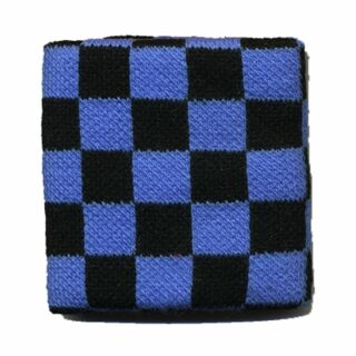 Banda de sudor - brazo - azul-negro cuadriculado
