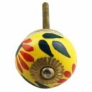 Möbelknauf aus Keramik Shabby Chic - Blume 14 -...