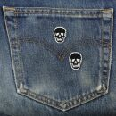 Patch - Skull - black-white - Set of two