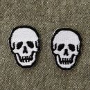 Patch - Skull - white-black - Set of two