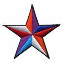 Parche - Estrella blanca-roja-lila-azul