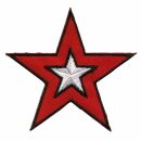 Parche - Estrella roja-blanca