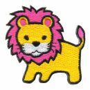 Patch - Lion - yellow-pink