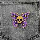 Patch - Butterfly with Skull - purple-ocher
