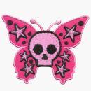 Patch - farfalla teschio - rosa-rosa - toppa