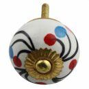 Möbelknauf aus Keramik Shabby Chic - Blume 18 -...