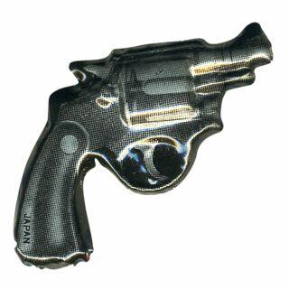 Blechanstecker - Revolver - Anstecker aus Blech