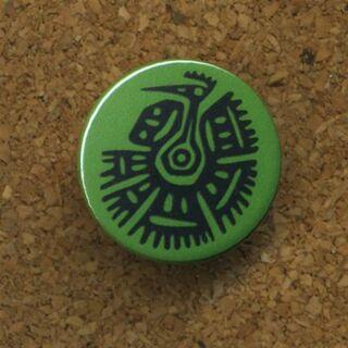 Button - Mexiko - Truthahn - Anstecker