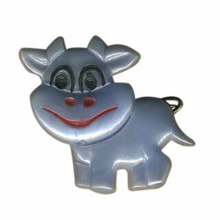 Spilla - piccola mucca - lilla - fermaglio DDR