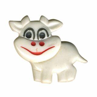 Broche - Vaca peque?a - blanca - Pin