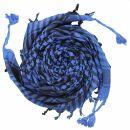 Palituch - einfach gewebt blau - schwarz - Kufiya PLO Tuch