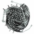 Palituch - einfach gewebt grau-hellgrau - schwarz -...