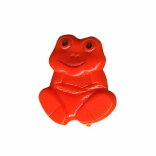 Pin - little frog - orange - Badge