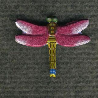 Broche - Libélula fucsia - Pin