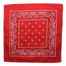Bandana Scarf - Paisley pattern 02 - red - white -...
