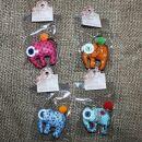 Tier-Anhänger mit Knopfaugen - Elefant - 4er Set -...