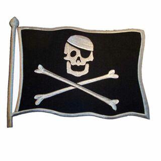Parche - Banda de las piratas con asta - blanco y negro