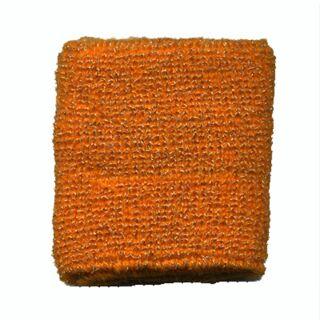Polsino - Fascia da polso tergisudore tinta unita - arancione - con glitter