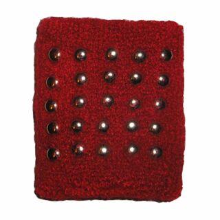Polsino - Fascia da polso tergisudore con borchie - rosso