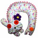 Neck pillow with animal motif - Cushion with bobble and...
