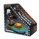 Blechspielzeug - Fahrender Pandabär mit Trommel aus...