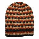 Oversize Wollmütze - braun - kupfer - warme...