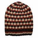 Oversize Wollmütze - schwarz - rot - beige - warme...