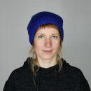 Oversize Wollmütze - dunkelblau - mehrfarbig - warme...
