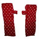 Armstulpen aus Wolle - Strickstulpen - rot mit Muster -...