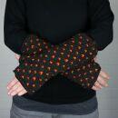 Armstulpen aus Wolle - Strickstulpen - braun mit Muster -...