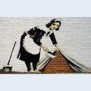 Canvas print - Banksy Streetart - Cleaning maid - Photo...