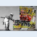 Canvas print - Streetart - Painter - Photo on canvas