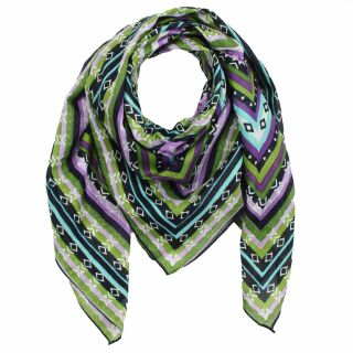 Cotton scarf - geometrical pattern 03- multicolored dark...